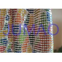 Buy cheap Colorful Drapes Metal Sequin Fabric Anodized Aluminum For Bag / Cloth / Table product