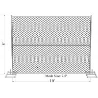 Buy cheap Construction Silver Temporary Chain Link Fence 8ft X 12ft ASTM A392-06 from wholesalers