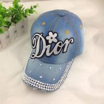 Buy cheap Wholesale-New Denim Cotton printed Baseball cap hip hop Adjustable cowboy caps letters cap from wholesalers