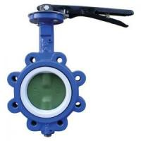 Buy cheap EPDM Seated Manual Lug Butterfly Valves Wafer Type For Ship Building / Textile,cast iron,cast steel from wholesalers