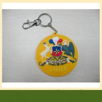 Buy cheap Bag or luggage accessories customized pvc Keychain 3d silicone rubber keychain from wholesalers