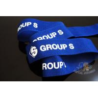 Buy cheap Custom Blue Ribbon With White Printing  Woven Medal Ribbons Medal Lanyards For Events from wholesalers