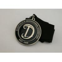Buy cheap Iron Stamped Enamel Brass Awards Ribbon Medals 3.5 mm Thickness from wholesalers