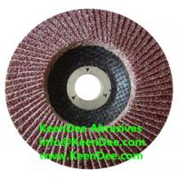 "Buy cheap 4"" flap disc with 36# 40# 60# 80# grit from wholesalers"