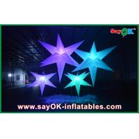 Buy cheap White Polyester Cloth Inflatable Led Star Lighting 1.5m / 2m For Party from wholesalers