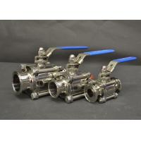 Buy cheap AISI 304 316L Sanitary Tri Clamp Ball Valves With Full Port Ends , Manual Type from wholesalers