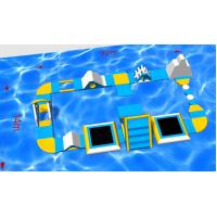 Buy cheap Buid a Aqua Fun Paradise! Guangzhou Factory Provide PVC Inflatable Auqa Island Beginner Inflatable Water Park from wholesalers