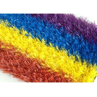 Buy cheap Fire Proof 9800 Density 25mm Height Coloured Fake Grass Mat product