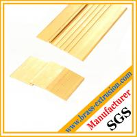 Buy cheap Floor and stairs nosing stair edging trim of extrusion profiles brass threshold covers brass tees from wholesalers