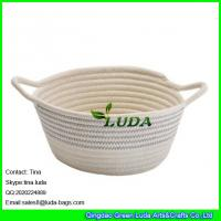 Buy cheap LUDA 2016 new bag striped collapsible cotton rope bag storage baskets from wholesalers