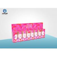 Buy cheap Nail Polish Folding Cardboard Display Boxes Pink Mini For Cosmetic Shop from wholesalers