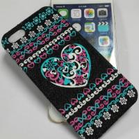 Buy cheap Heart Shape Denim Material Hot Press Cell Phone Cover Case from wholesalers