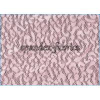 Buy cheap Pink Leopard Jacquad Power Mesh Fabric Nylon Spandex Net for Sexy Bra from wholesalers