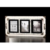 """Buy cheap 3 Multi Openings 5""""x7"""" Wooden Wall Hanging Photo Frame In Distressed White Finishing from wholesalers"""