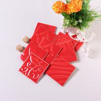 China 4x4 Red Decorative Ceramic Wall Tiles Interior Wear Resistant Ceramic Tiles on sale