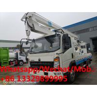 Buy cheap Customized SINO TRUK HOWO RHD 14m overhead working platform truck for sale, hydraulic aerial working truck, bucket truck from wholesalers