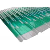 Buy cheap Extrusion Corrugated Polycarbonate Panels , Clear Corrugated Plastic For Greenhouse from wholesalers
