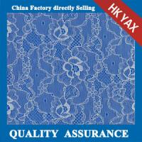 Buy cheap 2014 china factory price hot selling New coming white flower elasticity voile lace fabric YAXL-3322 from wholesalers