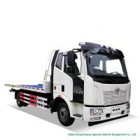 Buy cheap FAW Flatbed Wrecker Tow Truck 6  Wheeler For Car Carrier / Road Rescue from wholesalers