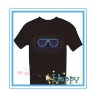 Buy cheap black colour customerized electroluminescent el t shirt panel from wholesalers