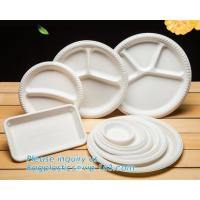 Buy cheap Biodegradable Disposable Sugarcane Bagasse Party Plate,Eco-friendly sugarcane bagasse paper plate/disposable compostable from wholesalers
