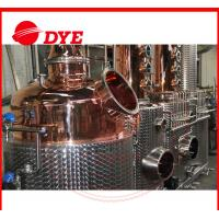 Buy cheap 100% Red Copper Alcohol Distiller , Moonshine Distillation Equipment from wholesalers