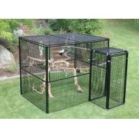 Buy cheap Welded Wire Lifestyle Deluxe Metal Bird Aviary Powder Coated Black Color from wholesalers