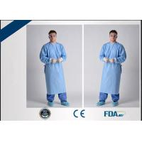 Buy cheap Breathable Sterile Disposable Hospital Gown For Blood / Microbe Prevention from wholesalers