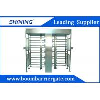 Buy cheap White Color Swing Full Height Turnstile , Intelligent Barcode Scanner Turnstile from wholesalers