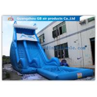 Buy cheap Blue Dolphin Inflatable Rental Water Slides Bounce House For Big Kids / Teenagers product