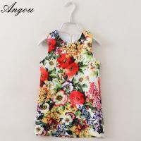 Buy cheap Angou Baby Girl Dress Floral Pattern A-Line Princess Dress Girls European Style Baby Dress from wholesalers