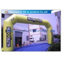 Buy cheap Outdoor Advertising Custom Inflatable Arch 0.45mm Pvc Tarpaulin , 8mL * 5mH product