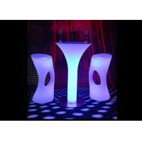 Buy cheap CE&ROHS approved plastic led bar counter table illuminated led bar counter table led table for rental business from wholesalers
