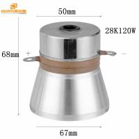 Buy cheap Ultrasonic Cleaning Transducer Ultrasonic Vibration Transducer 28KHZ120W driver with ultrasonic generator from wholesalers