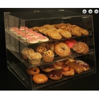 Buy cheap Clear Acrylic Pastry Display Case With 3 Trays For Bread Donut product