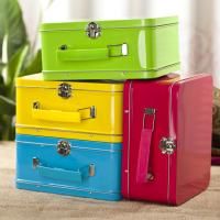 Buy cheap Antique Lunch Boxes With Plastic Handle , Mini Lunch Box Tins from wholesalers