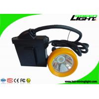 Buy cheap 7.8Ah 10000 Lux Coal Mining Light , Miners Hard Hat Lamp with Silicon Button Cap 18 Hours Working Time from wholesalers