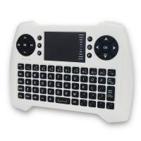 Buy cheap White Battery Operated Remote Control For TV , Wireless Keyboard With Touchpad from wholesalers