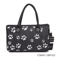 Buy cheap  				Paws Printing Leather Knitting Dog Carriers Pet Products Shoulder Bag 	         from wholesalers