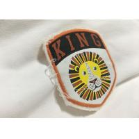 China Merrow Border Custom Stitched Patches , Clothing Iron On Embroidered Patches For T Shirts on sale