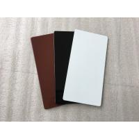 Buy cheap Black Aluminum Sign Panels / Weatherproof Sign Material With Color Uniformity product