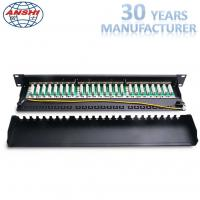 Buy cheap 19 Inch 24 Port CAT6 STP Shielded Patch Panel 1U, IDC PCB Type from wholesalers