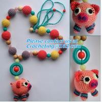 Buy cheap Handmade Nursing Necklace Crochet Beads Breastfeeding Crochet Flowers Natural Wood Accesso from wholesalers