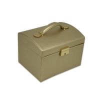 Buy cheap Gold Color Hot stamping PU Leather Jewelry Organizer Case from wholesalers
