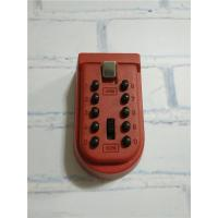 Buttoned Single Key Reinforced Security Lock Box For Keys Wall Mounting