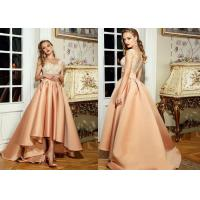 Buy cheap Satin Celebrity Skirts Champagne Bridesmaid Dresses Long Diamond Decoration from wholesalers