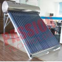 Buy cheap 200L Capacity Vacuum Tube Solar Water Heater Portable Galvanized Steel Frame from wholesalers