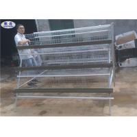 Buy cheap Poultry Farm Chicken Layer Cage , Wire Mesh A Frame Chicken Breeding Cages from wholesalers