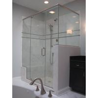 China Sleek design  modern tastes circular Frameless shower enclosure on sale