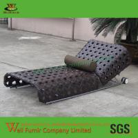 Buy cheap Single Adjustable Chaise Lounge, Big Wide Rattan, Chocolate Cushion WF-0826 from wholesalers